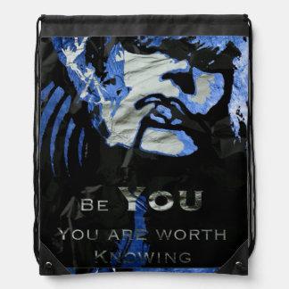 Caring Quotes (Be You) drawstring Backpacks