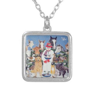 Caring Square Pendant Necklace