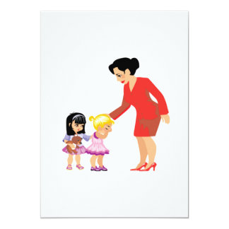 Caring Teacher 13 Cm X 18 Cm Invitation Card
