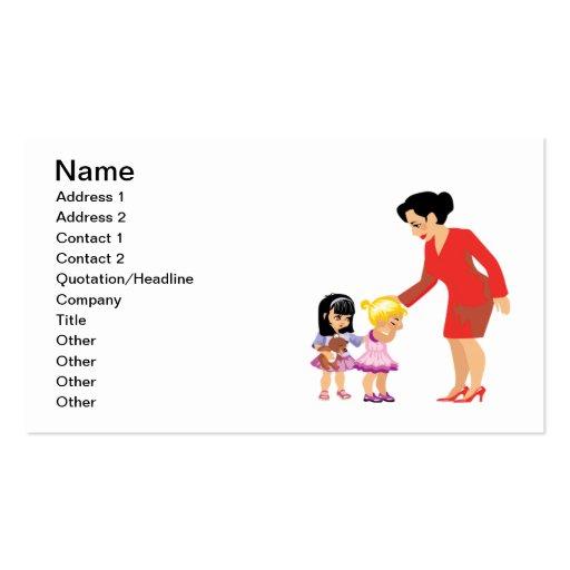 Caring Teacher Business Card Template