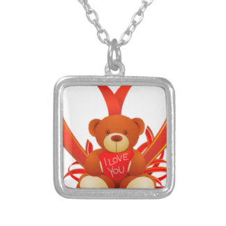 Caring Teddy, Love , Romantic Personalized Necklace