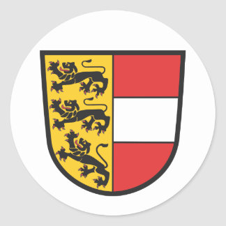 Carinthia coat of arms classic round sticker