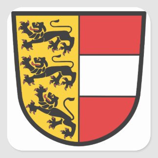 Carinthia coat of arms square sticker