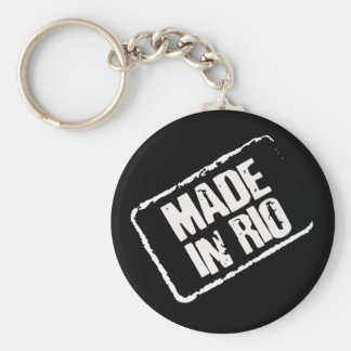 CARIOCA MADE IN RIO STAMP BASIC ROUND BUTTON KEY RING