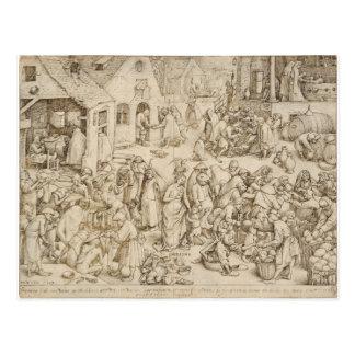 Caritas Charity by Pieter Bruegel the Elder Post Cards