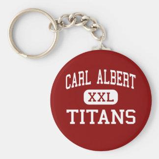 Carl Albert - Titans - Junior - Midwest City Key Chain