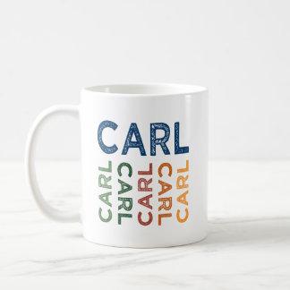 Carl Cute Colorful Basic White Mug