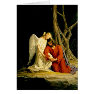 Carl Heinrich Bloch - Gethsemane Greeting Card