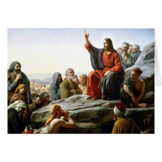 Carl Heinrich Bloch - Sermon on the Mount Greeting Card