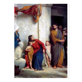Carl Heinrich Bloch - Suffer the Children Postcard
