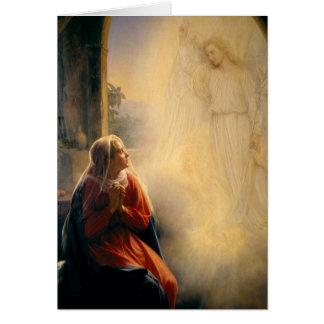 Carl Heinrich Bloch - The Annunciation Greeting Card