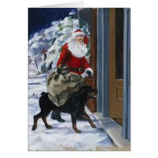 Carl Helping Santa Claus from <Carl's Christmas> b Card