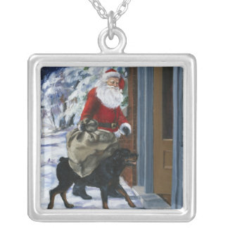Carl Helping Santa Claus from <Carl's Christmas> b Silver Plated Necklace