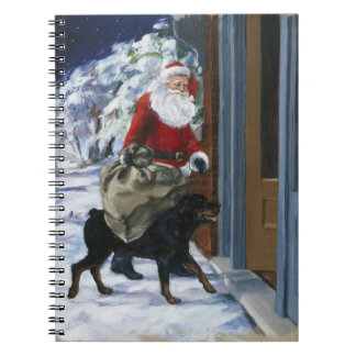 Carl Helping Santa Claus from <Carl's Christmas> b Spiral Notebook