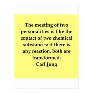 carl jung quote postcard