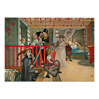Carl Larsson art: A Day of Celebration Poster