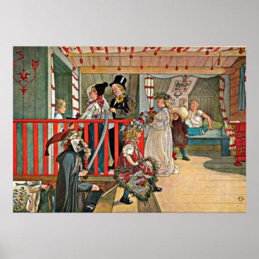Carl Larsson art: A Day of Celebration Print