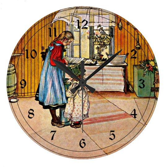 Carl Larsson art: The Kitchen Wall Clock