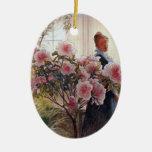 Carl Larsson - Azaleas Christmas Tree Ornament