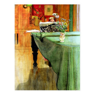Carl Larsson: Brita at the Piano Postcard