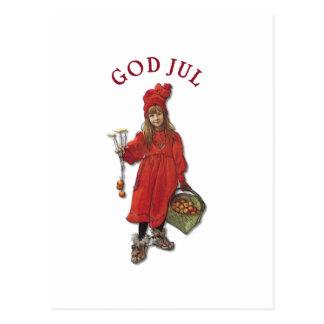 Carl Larsson: Brita God Jul Post Card