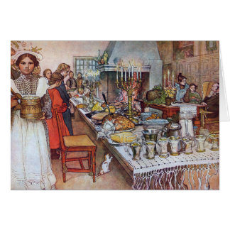 Carl Larsson Christmas Eve Custom Card Template