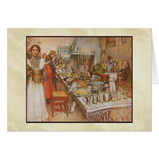 Carl Larsson Christmas Eve Dinner Card