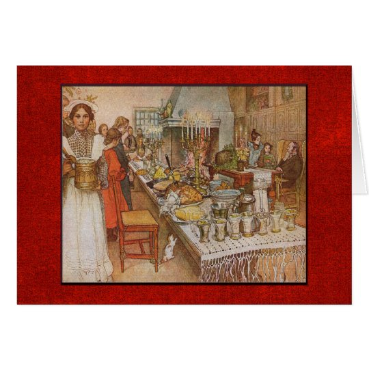 Carl Larsson Christmas Eve with Custom Text Card