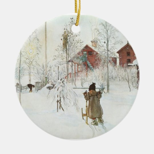 Carl Larsson Christmas in Sweden Christmas Ornament