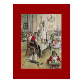 Carl Larsson Christmas Morning 1894 Postcard