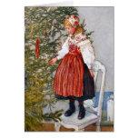 Carl Larsson Christmas Tree Custom Card Template