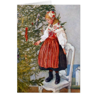 Carl Larsson Christmas Tree Custom Card Template