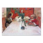 Carl Larsson Custom Christmas Card Evening Meal