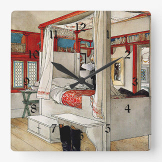 Carl Larsson - Daddy's Room Wall Clock