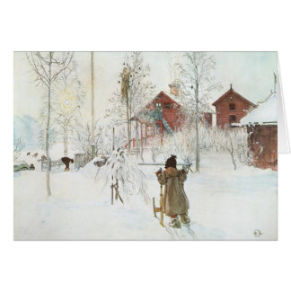 Carl Larsson  Front Yard and the Wash House Greeting Card