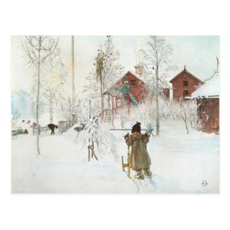 Carl Larsson  Front Yard and the Wash House Postcards