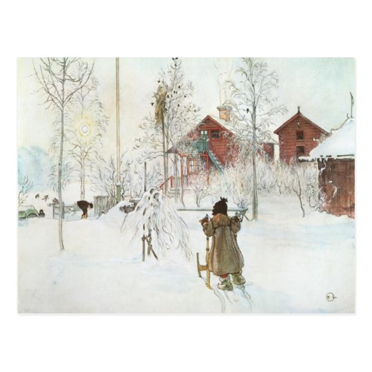Carl Larsson Front Yard and the Wash House