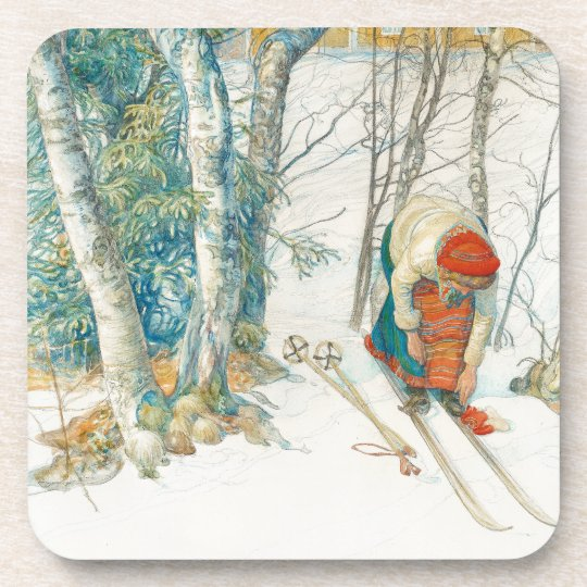 Carl Larsson Girl Costume Daughter Skiing Coaster