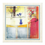 Carl Larsson Lilianna and the Crocus Gallery Wrap Canvas