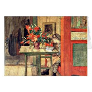 Carl Larsson - Lisbeth Reading Greeting Card