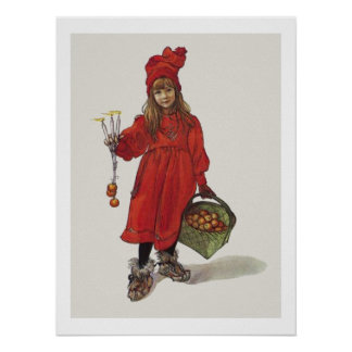 Carl Larsson Little Swedish Girl Brita as Iduna Poster