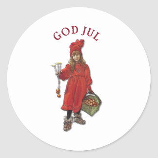 Carl Larsson Paints Daughter Brita as Iduna Round Sticker