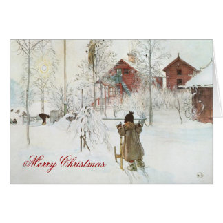 Carl Larsson Scandinavian Winter Home Christmas Card