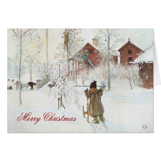 Carl Larsson Scandinavian Winter Home Christmas Card