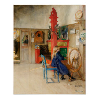 Carl Larsson: Spinning Wheel Poster