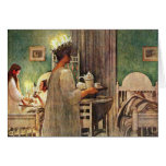 Carl Larsson St. Lucia Day Christmas in Sweden Greeting Card