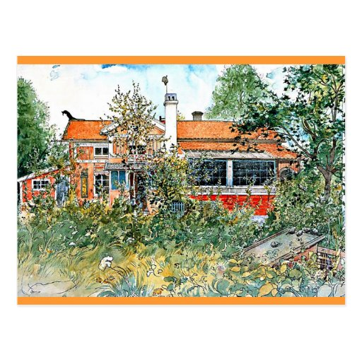 Carl Larsson: The Cottage, Painting by Larsson Postcard