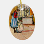 Carl Larsson - The Kitchen Ceramic Oval Decoration
