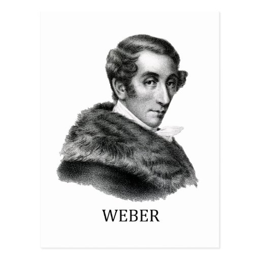 Carl Maria von Weber, black Postcards