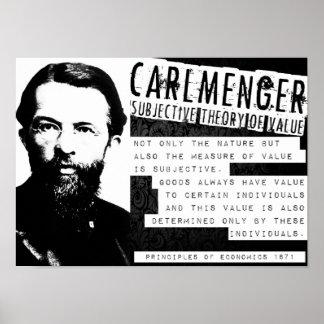 Carl Menger Austrian School Libertarian Free Marke Poster